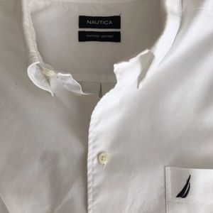 Nautica White Long Sleeve Button Down